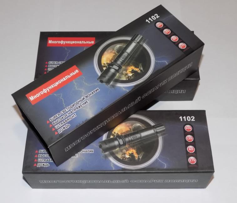 фонарь электрошокер Police 1102 коробка