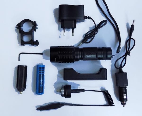 Подствольный фонарь FA-Q101 T6 комплектация