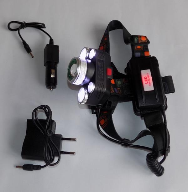 мощный налобный фонарь HL-8220-5