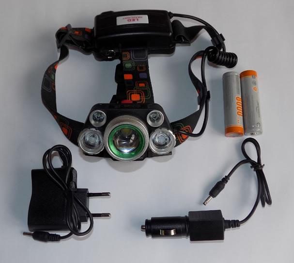 мощный налобный фонарь HL-8220-5 комплектация