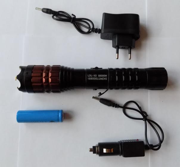 Комплектация фонаря шокера LDL-X5