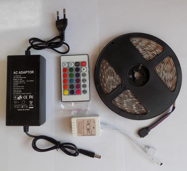 Влагозащищенная герметичная светодиодная лента RGB