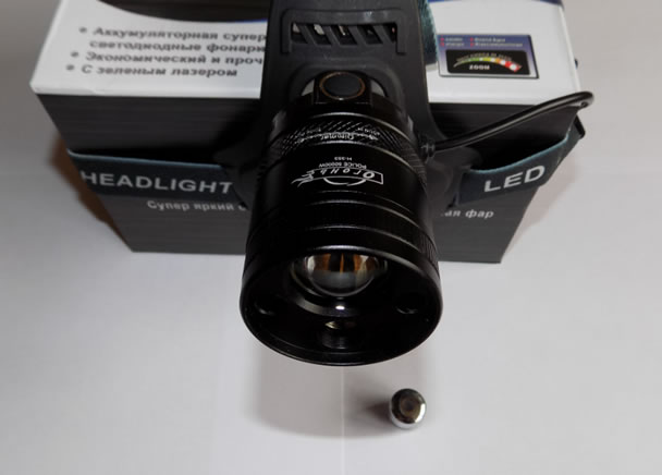 Налобный фонарь Огонь H-353 с лазерной указкой