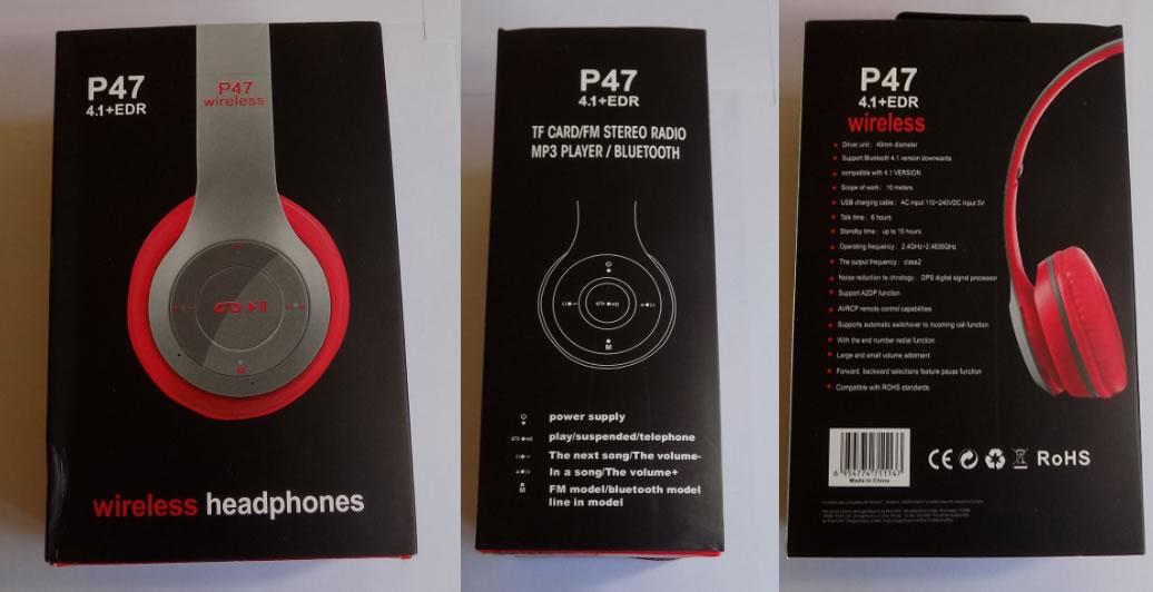 Накладные беспроводные Bluetooth наушники P47