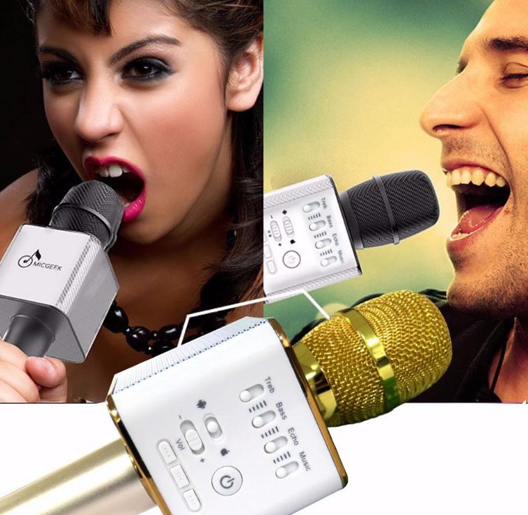 Беспроводной караоке микрофон Q9 Tuxun Micgeek