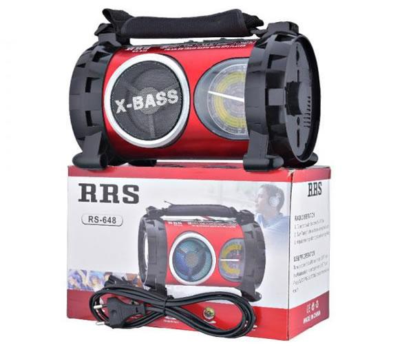 Радиоприемник бумбокс RRS RS-648 FM фонарик