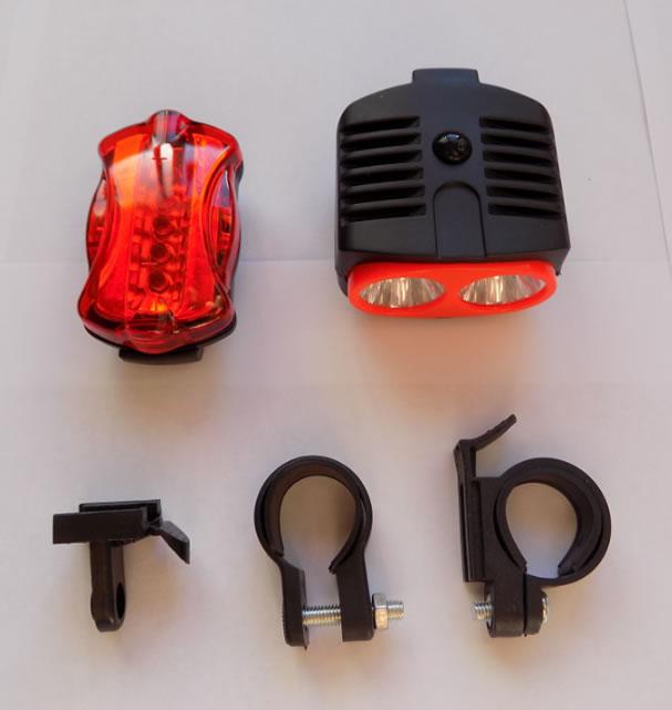 Передний и задний велофонари Y-772 комплект