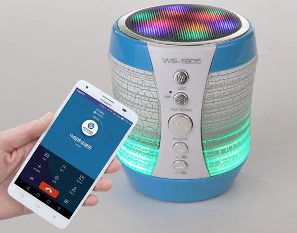 Портативная колонка Bluetooth WS-1805 со светомузыкой