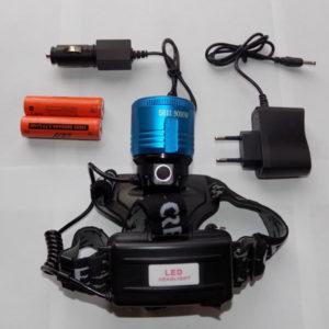 Налобный фонарь FA-5811 9000W с двумя светодиодами