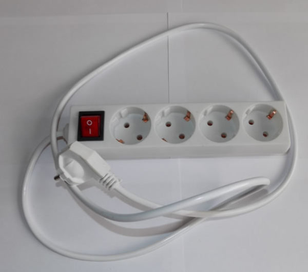 Удлинитель с сетевым фильтром 1.5 м 220 V
