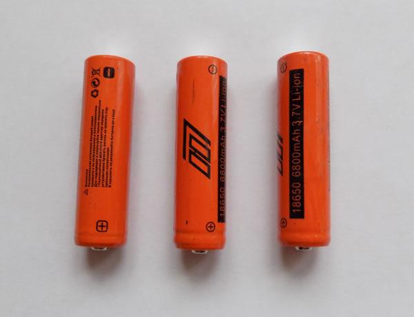 Аккумуляторы Li-ion 18650 для электрошокеров и тактических фонарей