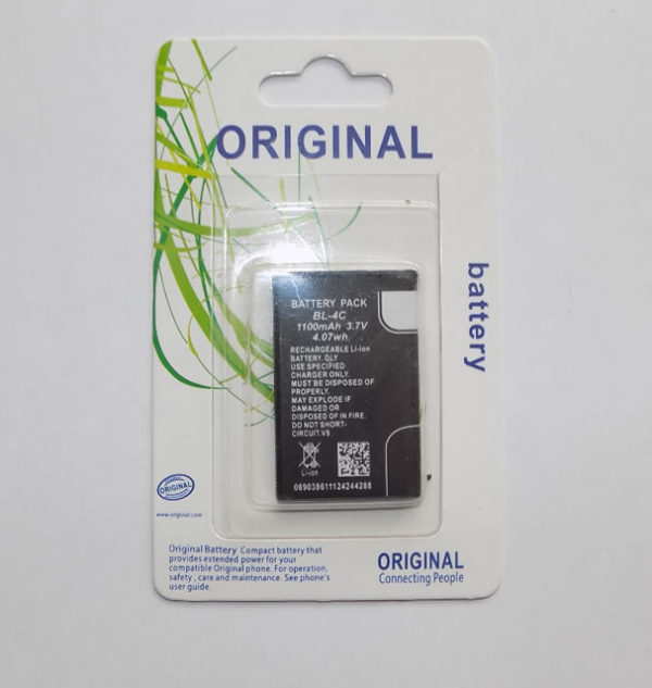 Аккумулятор BL-4C 1100 mAh Li-ion для Nokia