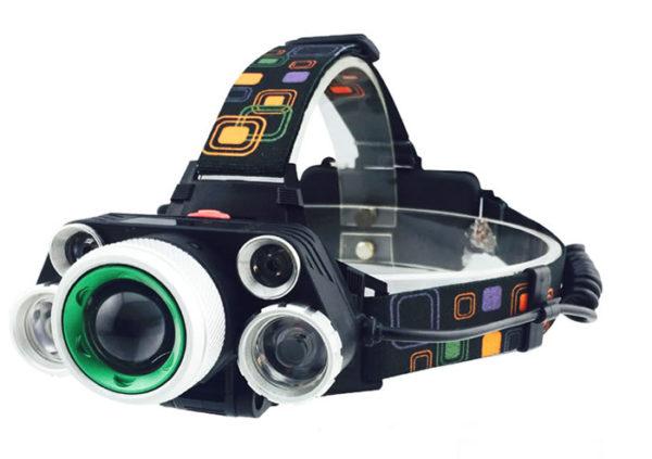 Налобный фонарь HL-8220-5 с пятью светодиодами