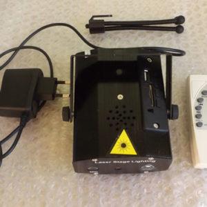 Лазерный проектор Mini laser stage lighting FA-009-USB с mp3 плеером.