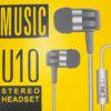 Наушники вкладыши MUSIC U10 2226