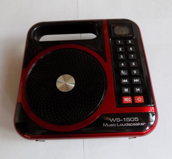 Громкоговоритель Wster WS-1505 радио FM MP3 плеер диктофон