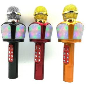 Караоке микрофон ZBX-918 с цветомузыкой и FM