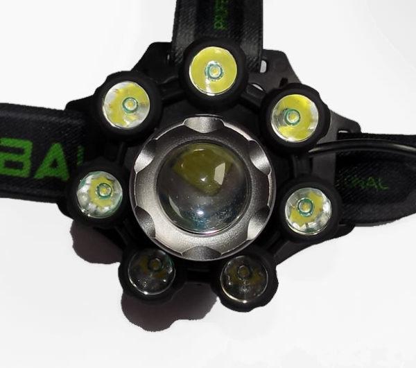 Налобный фонарь H-T569 восемь фар COB панель