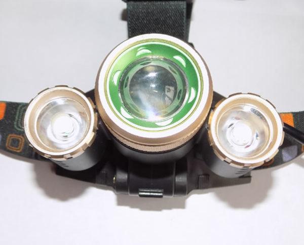 Налобный фонарь YT-T19 ZOOM три светодиода