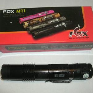Компактный фонарик-электрошокер Fox M11