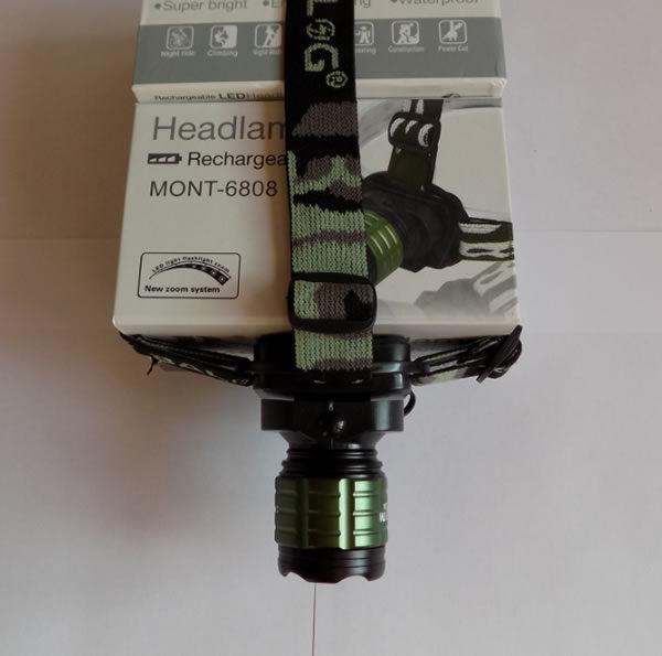 Налобный фонарь MONT-6808