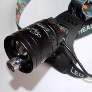 Налобный фонарь с лазерной указкой Огонь H-353
