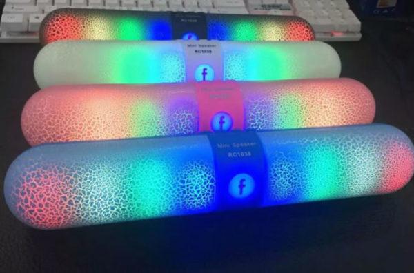 Портативная Bluetooth колонка RC-1038 с подсветкой цветомузыка