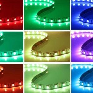 Светодиодная многоцветная лента RGB 5 метров