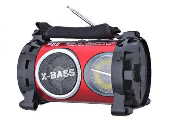 Радиоприемник бумбокс RRS RS-648 BT FM фонарик