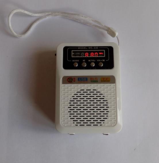 Портативная мини колонка WS-330 USB FM-радио