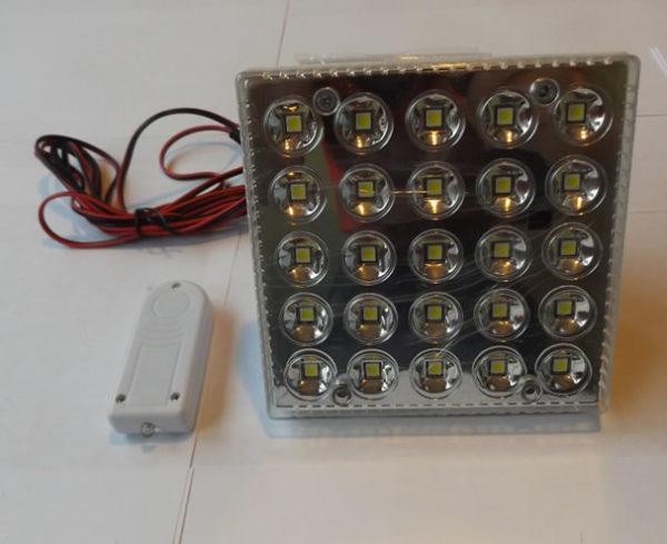 Умная светодиодная лампа YD-908 с пультом д/у встроенным аккумулятором и солнечной панелью