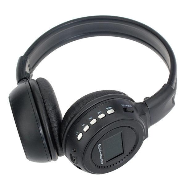 Беспроводные наушники N-65BT ЖК дисплей MP3 плеер FM радио